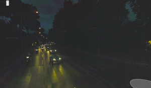 Google Street View image of the pedestrian crossing at the end of Ponte della Musica