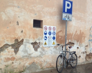 The one parking spot for bikes in Trastevere?