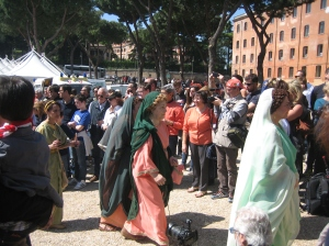Rome's founding holiday, 21 April, celebrated in costume at Circus Maximus