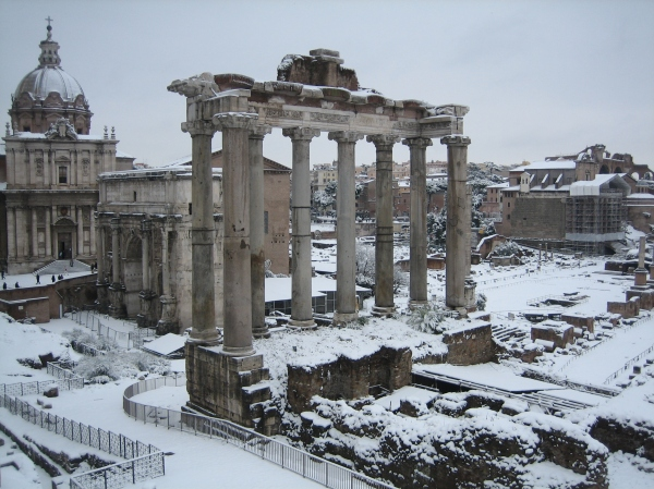 February 2012 Snow in the Roman Forum